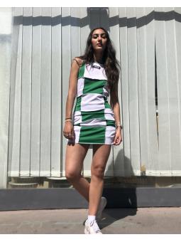 Robe damier vert