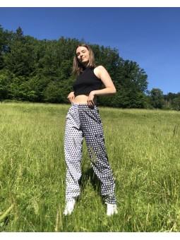 Pantalon bicolore Yin Yang